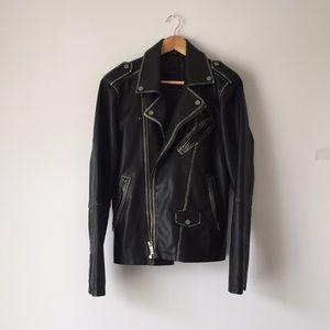 Zara Faux leather Biker Moro Jacket Never Worn out